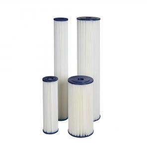 "Cartus filtrant lavabil din poliester plisat 10"" Aquafilter FCCEL1"