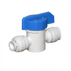 """Robinet de trecere Aquafilter cu bila conexiuni 1/4""""  quick - AQ-BV250W"""