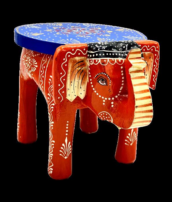 Masuta Elefant din lemn de mango - BLUE [0]