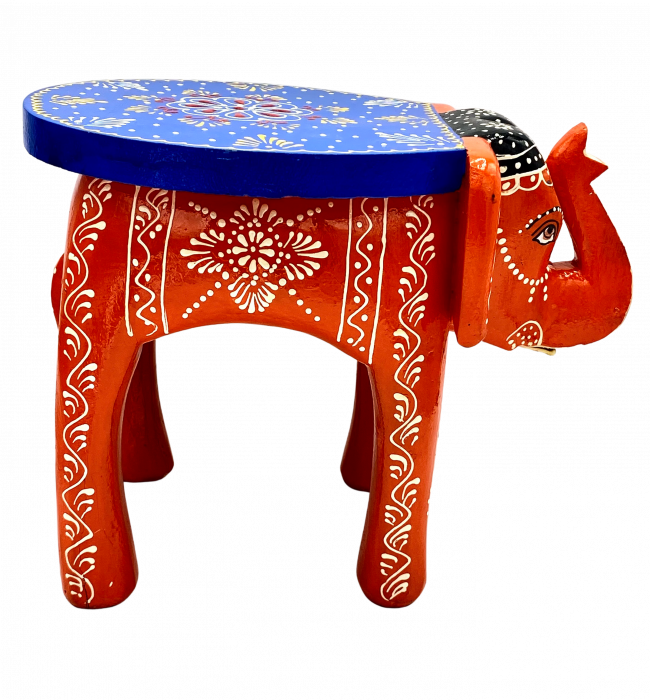 Masuta Elefant din lemn de mango - BLUE [2]
