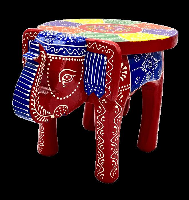 Masuta Elefant din lemn de mango - RED [1]