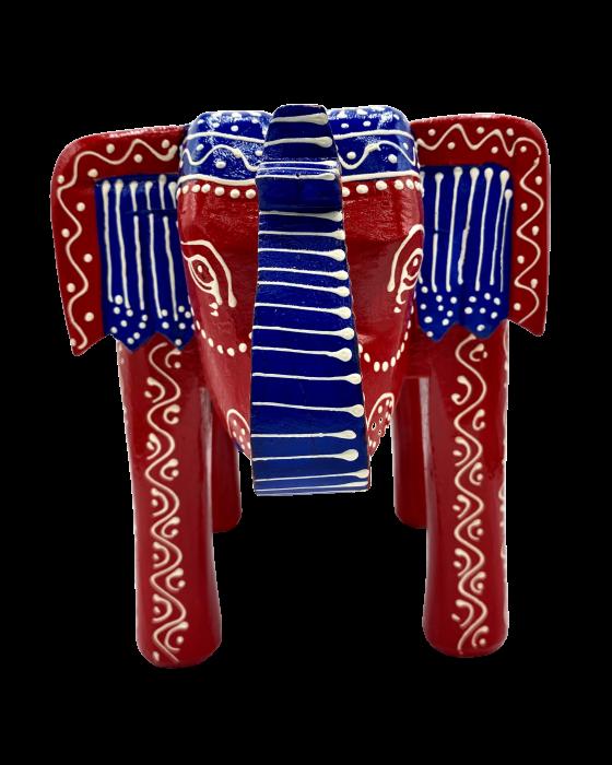 Masuta Elefant din lemn de mango - RED [5]