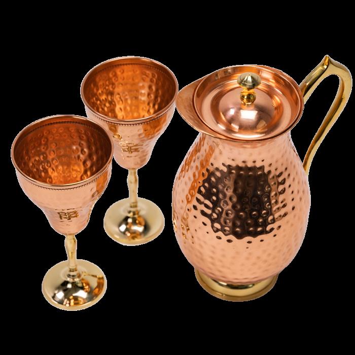 Carafa Aladin + 2 pahare pentru vin Rose [3]