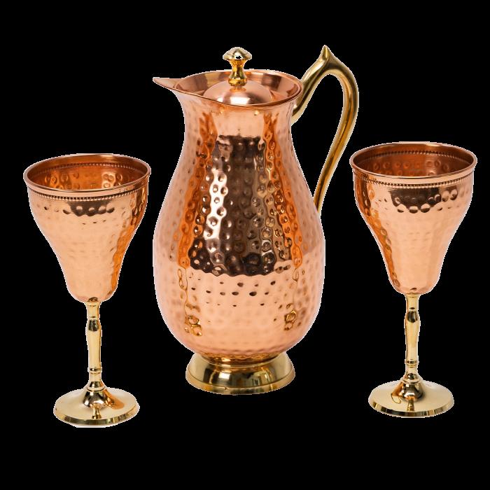 Carafa Aladin + 2 pahare pentru vin Rose [2]