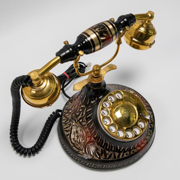 """Telefon vintage din alama ''Black"""" [1]"""