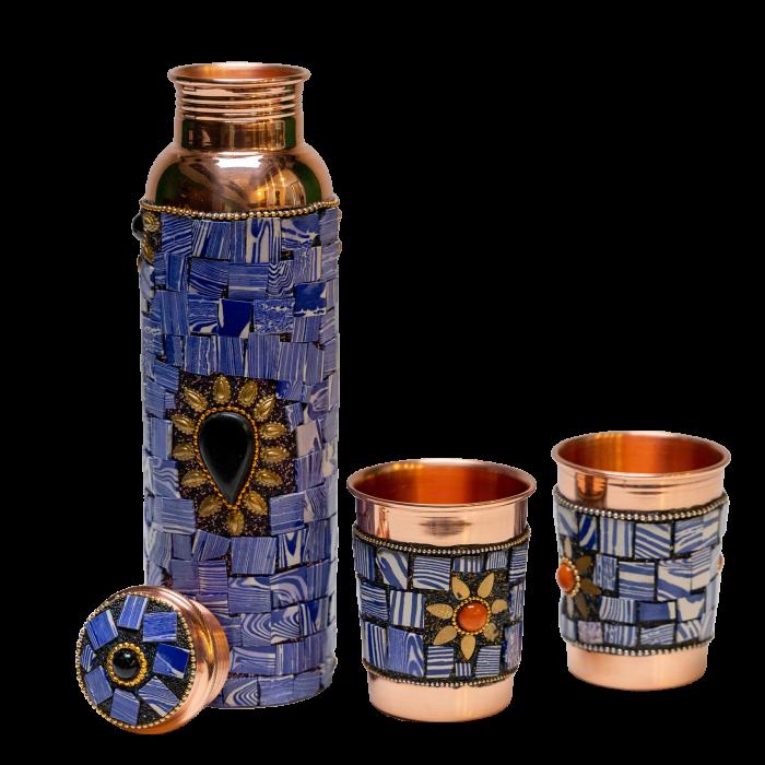 Set din cupru Lapis Lazuli [0]