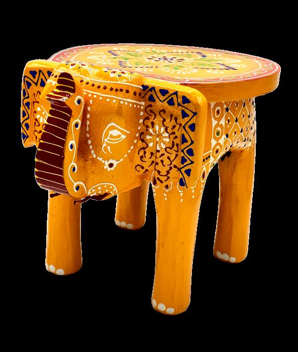 Masuta Elefant din lemn de mango - YELLOW [0]