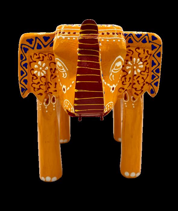 Masuta Elefant din lemn de mango - YELLOW [4]