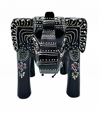 Masuta Elefant din lemn de mango - BLACK [6]