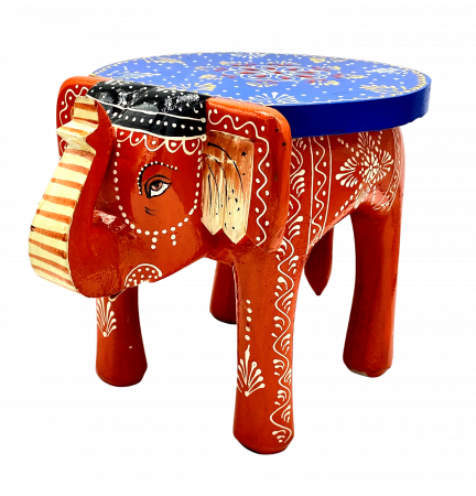 Masuta Elefant din lemn de mango - BLUE [1]