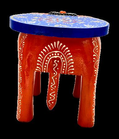 Masuta Elefant din lemn de mango - BLUE [4]