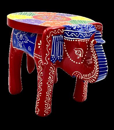 Masuta Elefant din lemn de mango - RED [0]