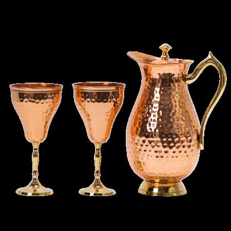Carafa Aladin + 2 pahare pentru vin Rose [1]