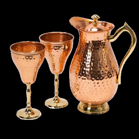 Carafa Aladin + 2 pahare pentru vin Rose [0]