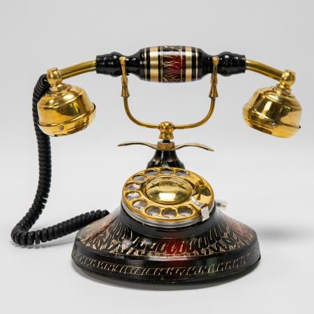 """Telefon vintage din alama ''Black"""" [0]"""