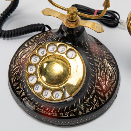 """Telefon vintage din alama ''Black"""" [2]"""