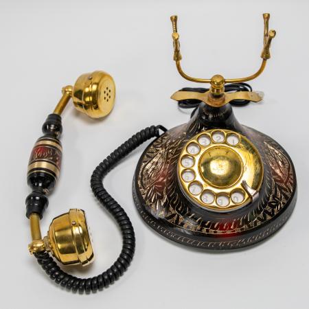 """Telefon vintage din alama ''Black"""" [4]"""