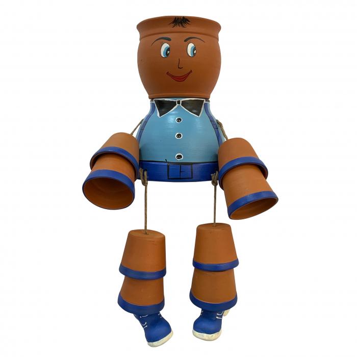 ansamblu-din-ceramica-de-arges-realizat-manual-argcoms-figurina-baietel-fond-albastru-6197 0