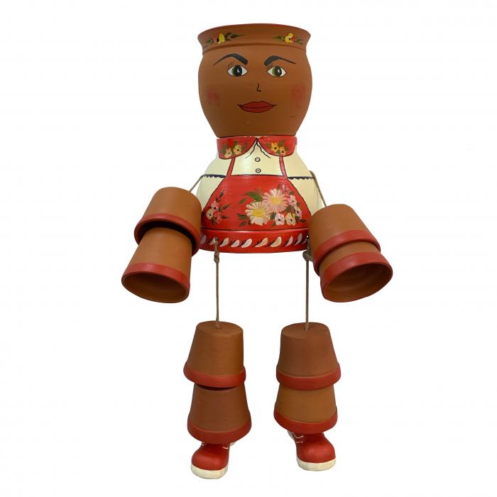 ansamblu-din-ceramica-de-arges-realizat-manual-argcoms-figurina-fetita-fond-rosu-6198 0