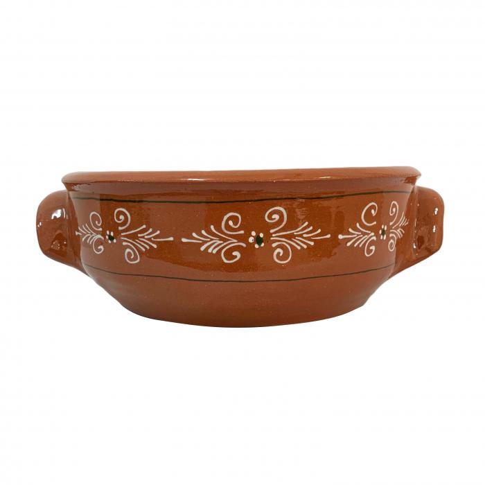castron-din-ceramica-de-arges-realizat-manual-argcoms-cu-2-toarte-pictura-traditionala-6182-6184 0