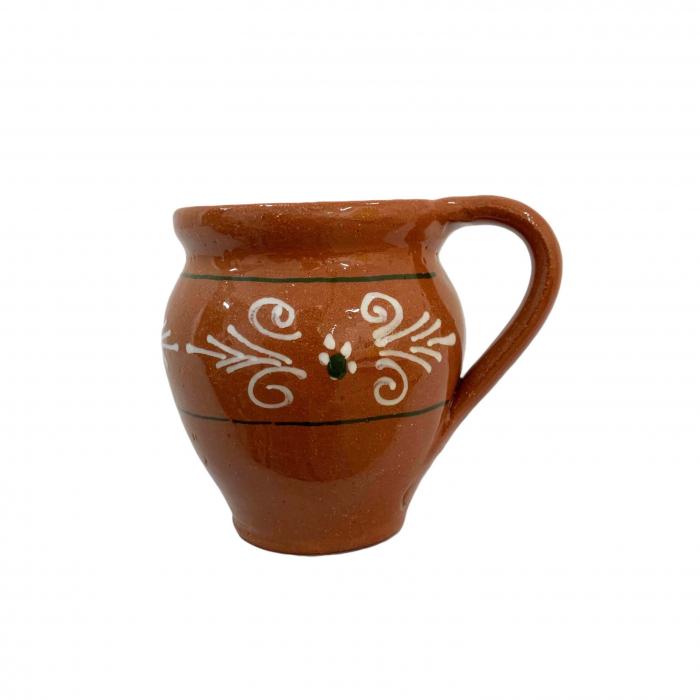 ceasca-din-ceramica-de-arges-realizata-manual-argcoms-vin-pictura-traditionala-fond-maro-2-6039-6042 0