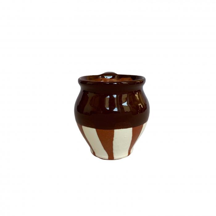ceasca-din-ceramica-de-arges-realizata-manual-argcoms-vin-pictura-traditionala-fond-maro-6031-6034 1