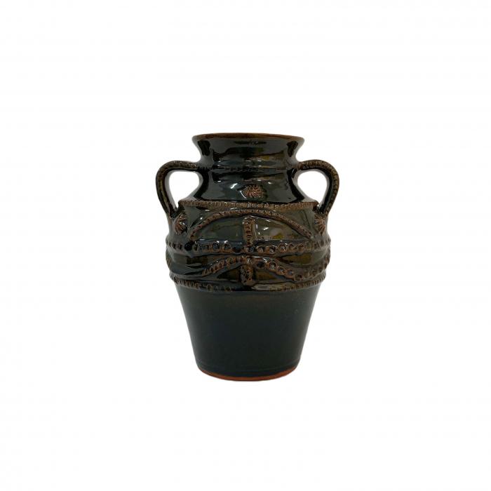 chiup-din-ceramica-de-arges-realizat-manual-argcoms-glazurat-cu-2-toarte-1-decor-cu-braie-6241-6244 0