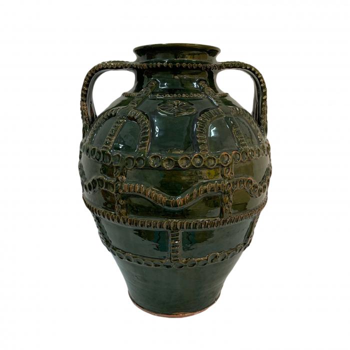 chiup-din-ceramica-de-arges-realizat-manual-argcoms-glazurat-cu-2-toarte-3-decor-cu-braie-6238-6240 0