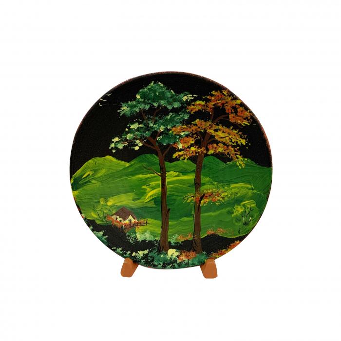 farfurie-decorativa-din-ceramica-de-arges-realizata-manual-argcoms-pictura-cu-peisaj-1-5443 0
