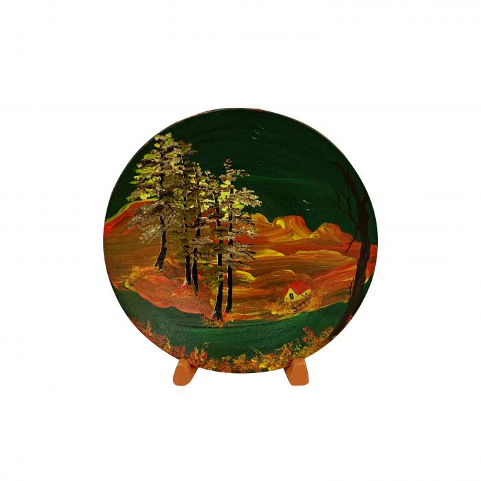 farfurie-decorativa-din-ceramica-de-arges-realizata-manual-argcoms-pictura-cu-peisaj-2-5444 0