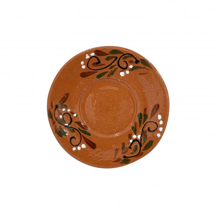 farfurie-din-ceramica-de-arges-realizata-manual-argcoms-ceasca-de-cafea-pictura-florala-5969-5971 1
