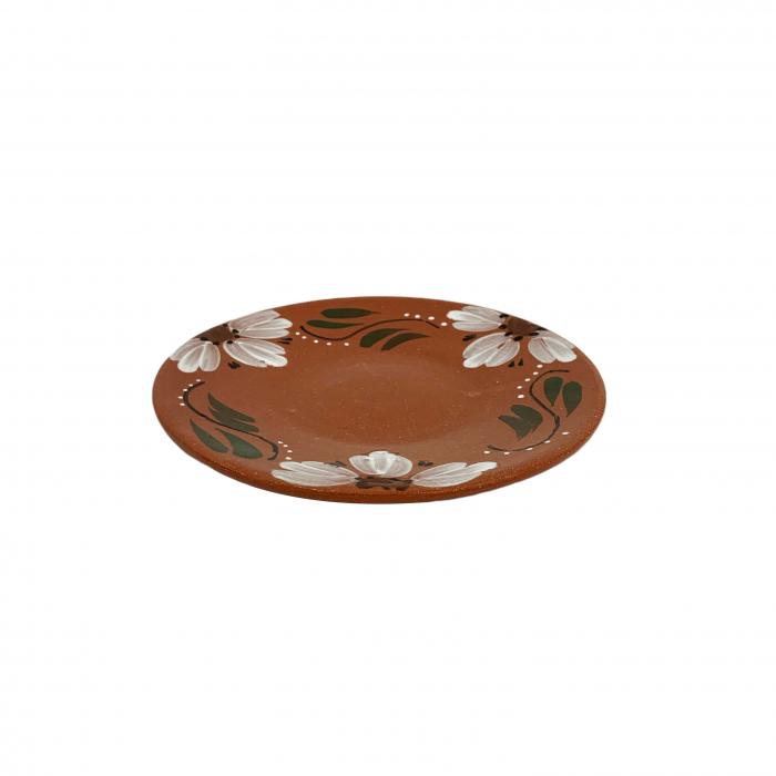 farfurie-din-ceramica-de-arges-realizata-manual-argcoms-pictura-florala-intinsa-mare-6174-6176 0