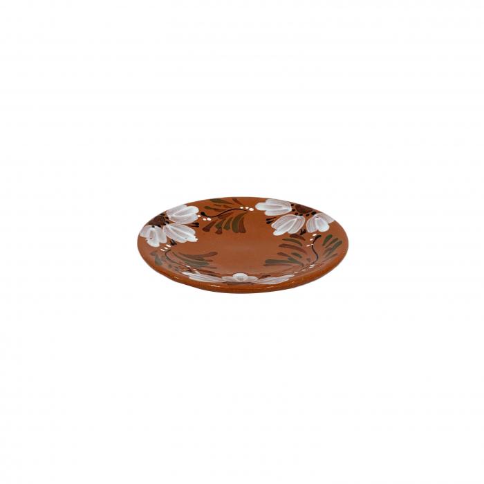 farfurie-din-ceramica-de-arges-realizata-manual-argcoms-pictura-florala-intinsa-mica-6177-6178 0