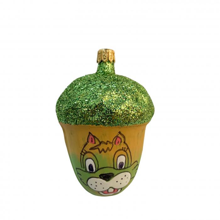 figurina-din-sticla-suflata-si-pictata-manual-argcoms-fabrica-lui-mos-craciun-ghinda-multicolor-fond-verde-6704 0