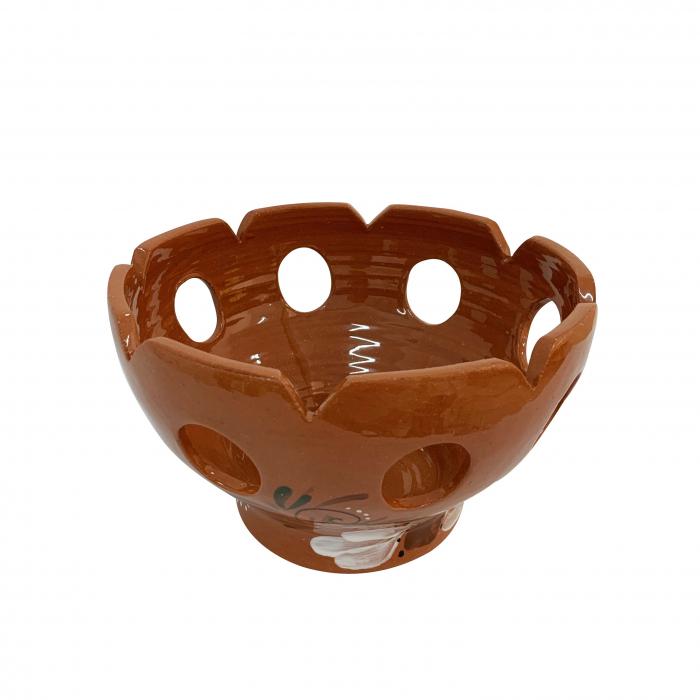 fructiera-din-ceramica-de-arges-realizata-manual-argcoms-traforata-pictura-florala-5923-5924 1