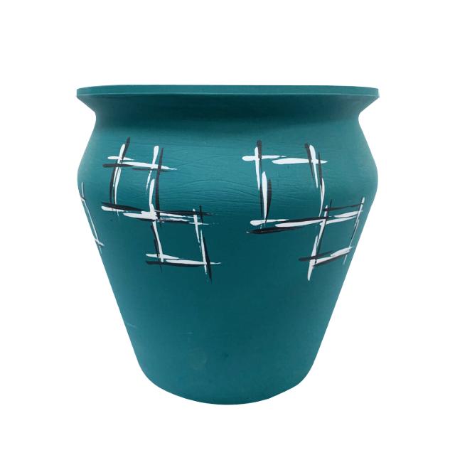 ghiveci-din-ceramica-de-arges-realizat-manual-argcoms-pictura-grafica-moderna-ø25-cm 0