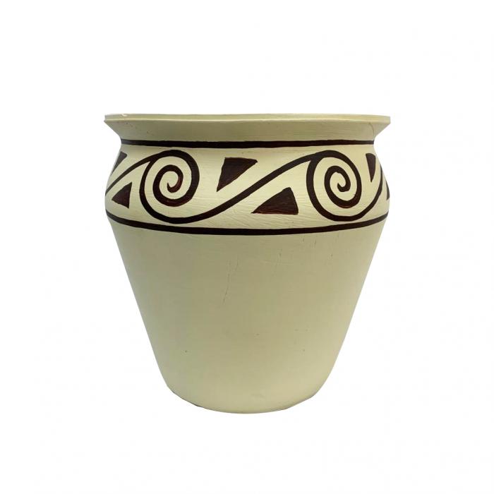 ghiveci-din-ceramica-de-arges-realizat-manual-argcoms-pictura-tip-cucuteni-c1-ø25-cm-crem-5608 0