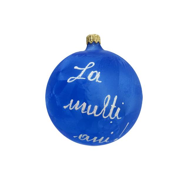 glob-din-sticla-suflata-si-pictata-manual-argcoms-fabrica-lui-mos-craciun-personalizabil-flori-de-gheata-clopotei-multicolor-fond-albastru-100-mm-sferic 3