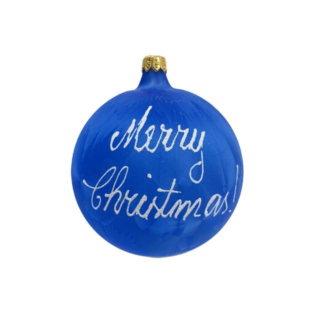 glob-din-sticla-suflata-si-pictata-manual-argcoms-fabrica-lui-mos-craciun-personalizabil-flori-de-gheata-panglica-multicolor-fond-albastru-100-mm-sferic 2