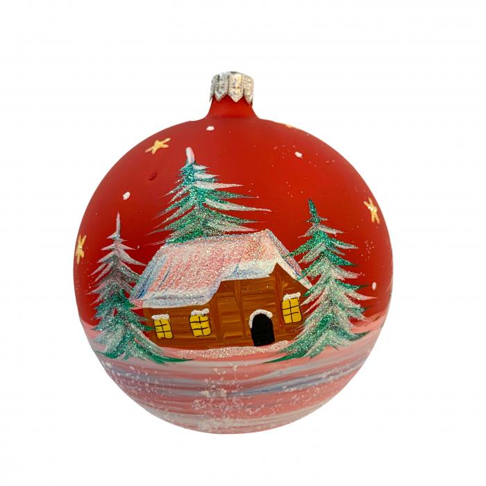 glob-din-sticla-suflata-si-pictata-manual-argcoms-fabrica-lui-mos-craciun-casa-padurarului-multicolor-fond-rosu-100-mm-sferic-6610-6612 [1]