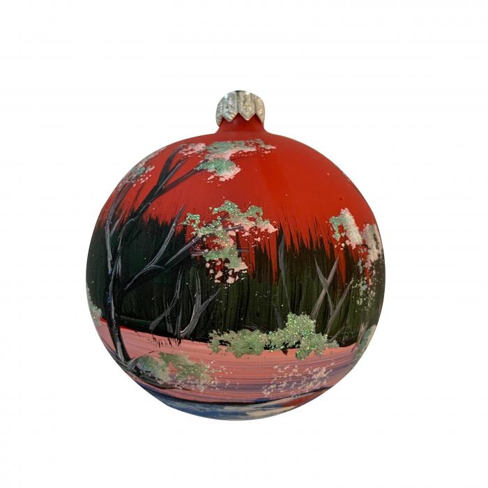 glob-din-sticla-suflata-si-pictata-manual-argcoms-fabrica-lui-mos-craciun-peisaj-de-iarna-in-padure-multicolor-fond-rosu-albastru-80-mm-sferic-6664-6667 [1]