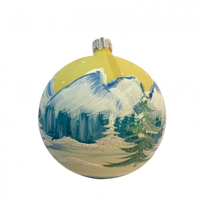 glob-din-sticla-suflata-si-pictata-manual-argcoms-fabrica-lui-mos-craciun-peisaj-montan-multicolor-fond-galben-80-mm-sferic-6653-6655 [1]