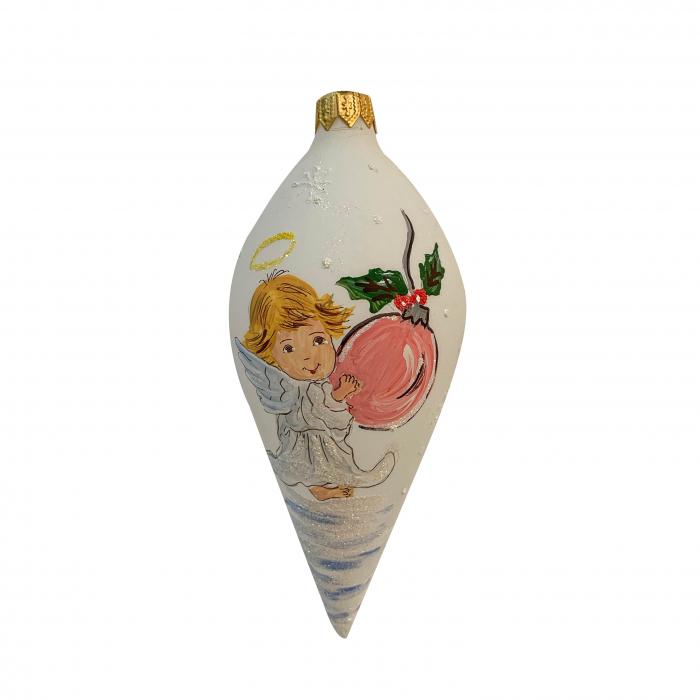 glob-din-sticla-suflata-si-pictata-manual-argcoms-fabrica-lui-mos-craciun-personalizabil-ingeras-multicolor-fond-alb-conic-6696-6697 0