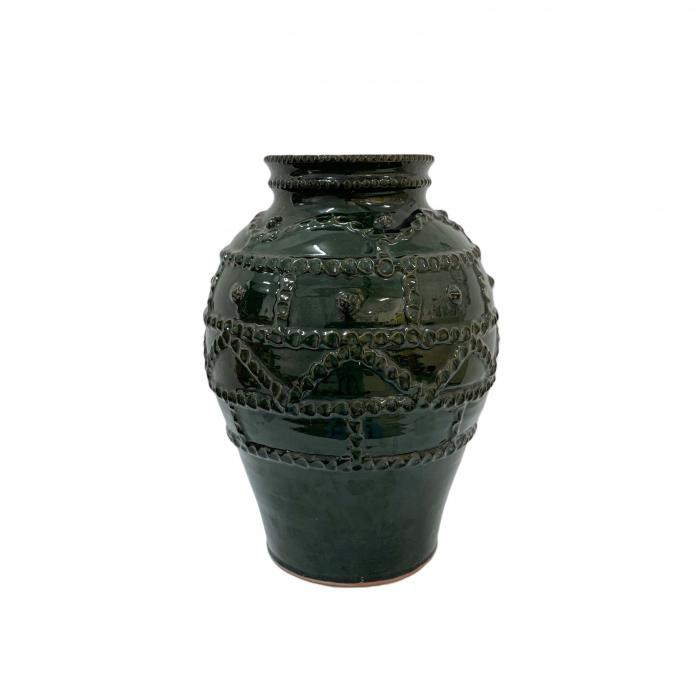 otetar-din-ceramica-de-arges-realizat-manual-argcoms-glazurat-fara-toarte-decor-brau-alveolat-6265-6269 0