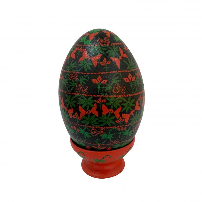 ou-de-paste-din-ceramica-de-arges-realizat-manual-argcoms-pictura-tip-arges-ø13-cm-5834 0