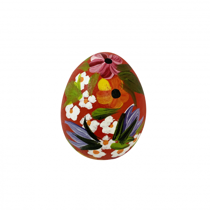 ou-de-paste-din-ceramica-de-arges-realizat-manual-argcoms-pictura-florala-2-ø5-cm-rosu-5839-5840 0