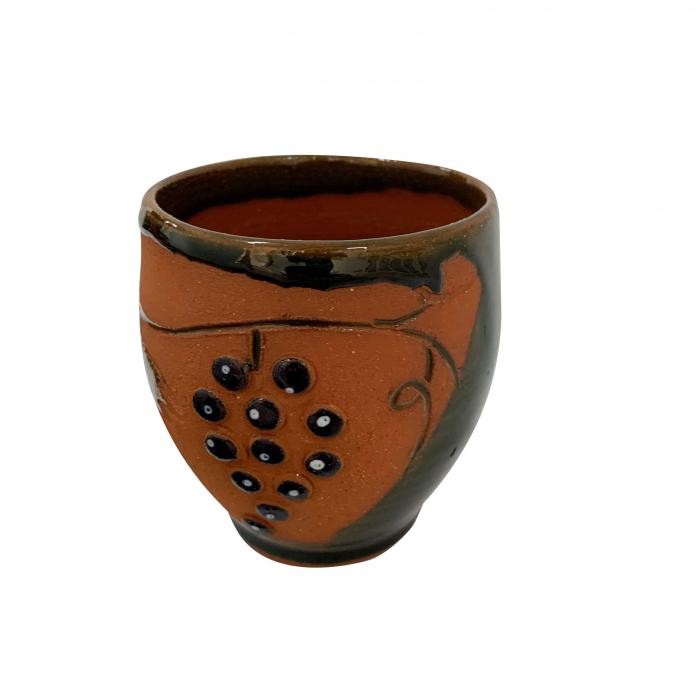 pahar-din-ceramica-de-arges-realizat-manual-argcoms-vin-tema-viticola-6014-6021 0