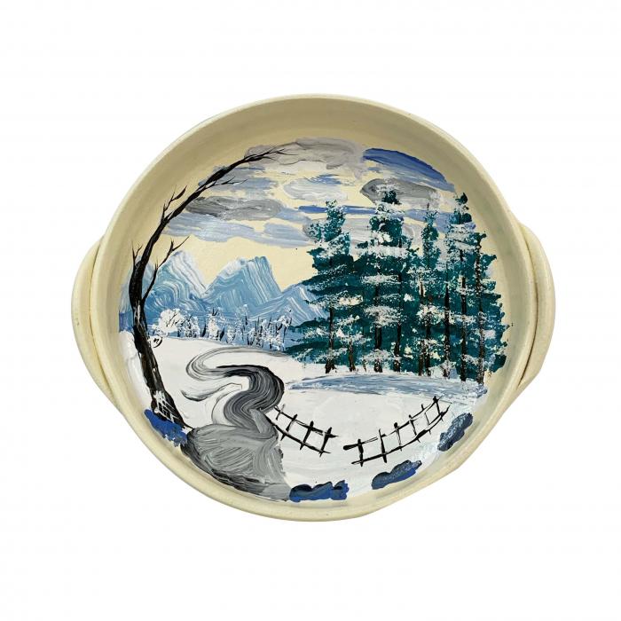 platou-decorativ-din-ceramica-de-arges-realizat-manual-argcoms-peisaj-de-iarna-2-ø22-cm-5797-5803 0