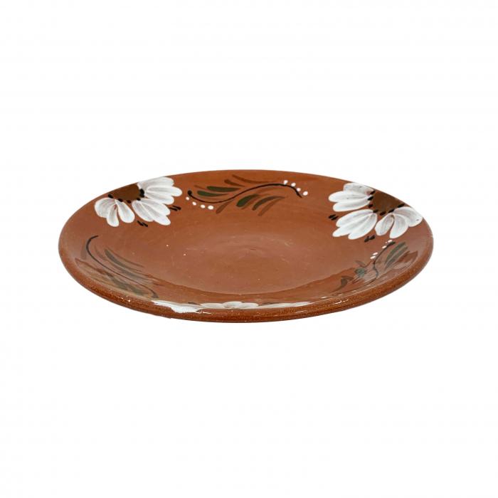 platou-din-ceramica-de-arges-realizat-manual-argcoms-pictura-florala-mic-6167-6168 0