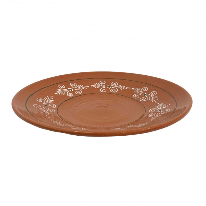 platou-din-ceramica-de-arges-realizat-manual-argcoms-pictura-traditionala-mare-6163-6164 0